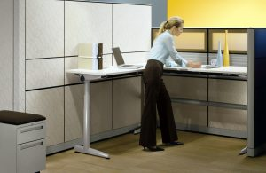 Height adjustable workstations can improve employees' health. Ask how Office Images can help with how your overall office organization.
